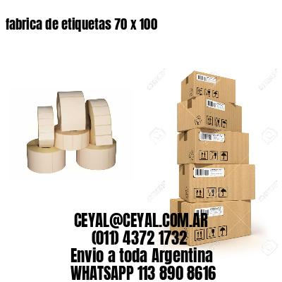 fabrica de etiquetas 70 x 100