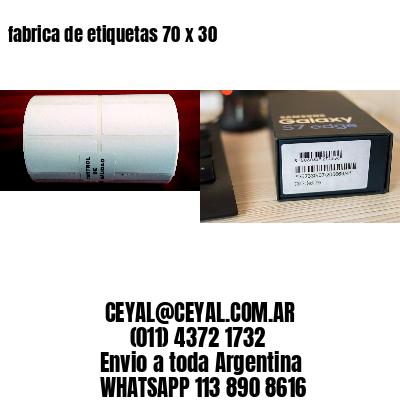 fabrica de etiquetas 70 x 30