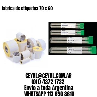 fabrica de etiquetas 70 x 60