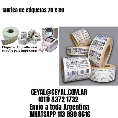 fabrica de etiquetas 70 x 80