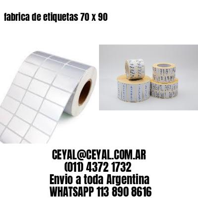 fabrica de etiquetas 70 x 90