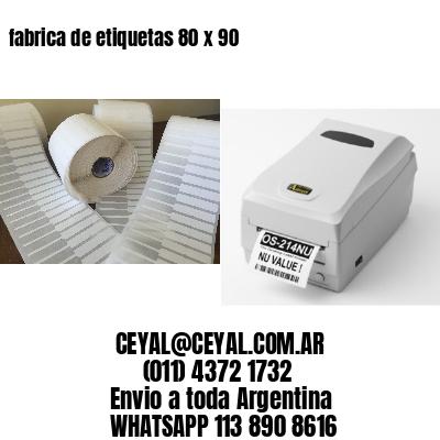 fabrica de etiquetas 80 x 90