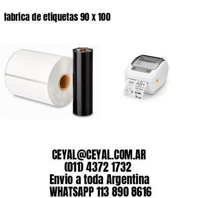 fabrica de etiquetas 90 x 100