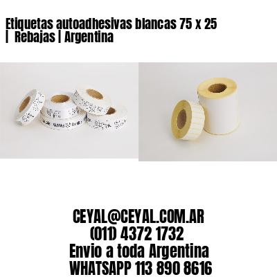 Etiquetas autoadhesivas blancas 75 x 25    Rebajas   Argentina