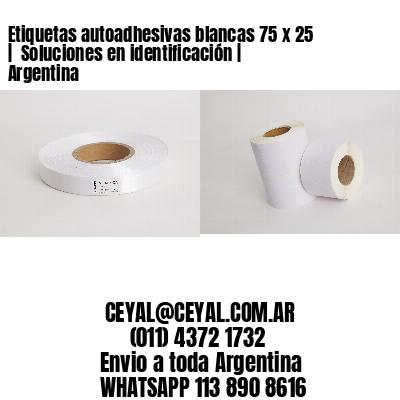 Etiquetas autoadhesivas blancas 75 x 25    Soluciones en identificación   Argentina