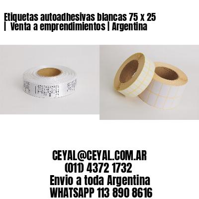 Etiquetas autoadhesivas blancas 75 x 25    Venta a emprendimientos   Argentina