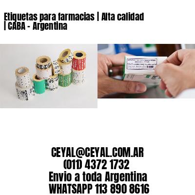Etiquetas para farmacias | Alta calidad | CABA - Argentina