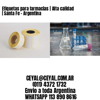 Etiquetas para farmacias | Alta calidad | Santa Fe - Argentina