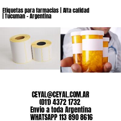Etiquetas para farmacias | Alta calidad | Tucuman - Argentina