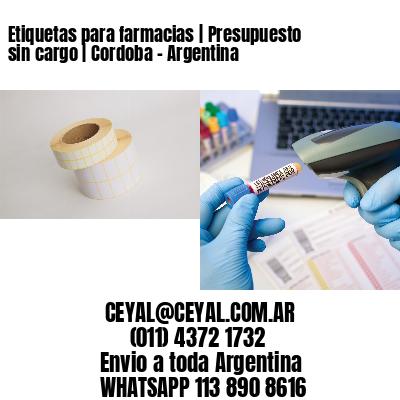 Etiquetas para farmacias | Presupuesto sin cargo | Cordoba - Argentina