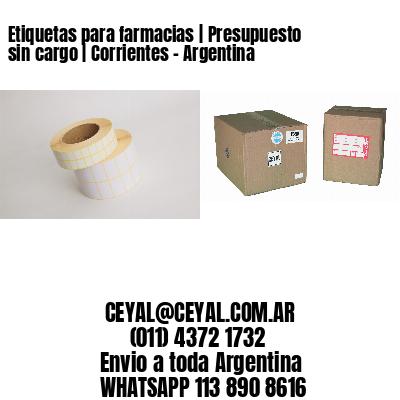 Etiquetas para farmacias | Presupuesto sin cargo | Corrientes - Argentina