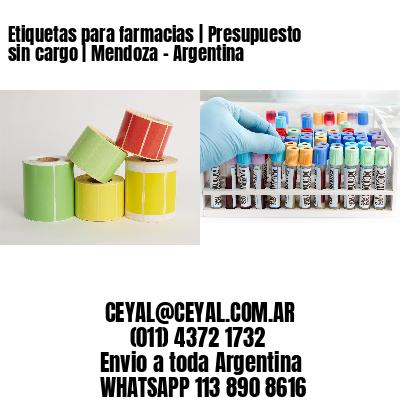 Etiquetas para farmacias | Presupuesto sin cargo | Mendoza - Argentina