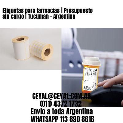 Etiquetas para farmacias | Presupuesto sin cargo | Tucuman - Argentina