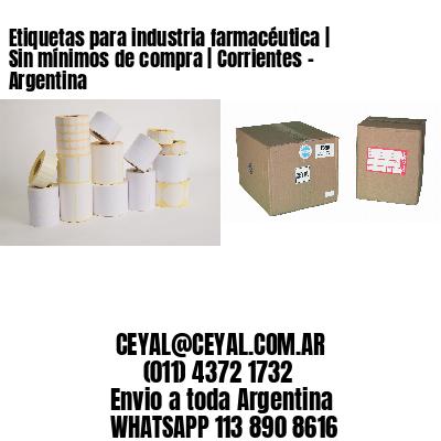Etiquetas para industria farmacéutica   Sin mínimos de compra   Corrientes - Argentina