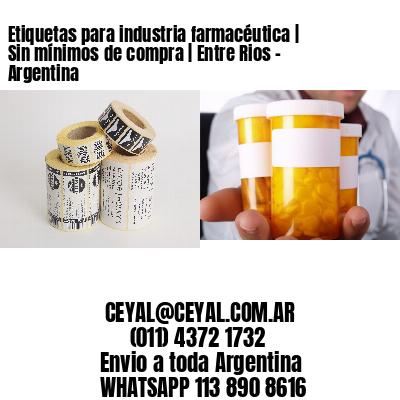 Etiquetas para industria farmacéutica   Sin mínimos de compra   Entre Rios - Argentina