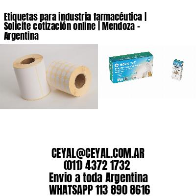 Etiquetas para industria farmacéutica   Solicite cotización online   Mendoza - Argentina