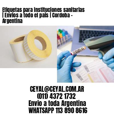Etiquetas para instituciones sanitarias | Envíos a todo el país | Cordoba - Argentina