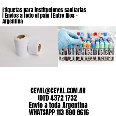 Etiquetas para instituciones sanitarias | Envíos a todo el país | Entre Rios - Argentina