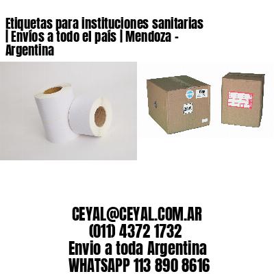 Etiquetas para instituciones sanitarias | Envíos a todo el país | Mendoza - Argentina