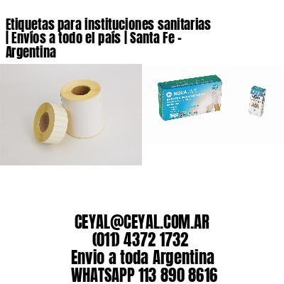 Etiquetas para instituciones sanitarias | Envíos a todo el país | Santa Fe - Argentina