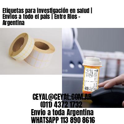 Etiquetas para investigación en salud | Envíos a todo el país | Entre Rios - Argentina