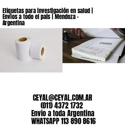 Etiquetas para investigación en salud | Envíos a todo el país | Mendoza - Argentina