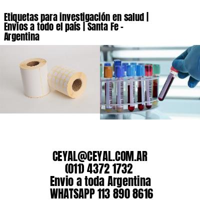 Etiquetas para investigación en salud | Envíos a todo el país | Santa Fe - Argentina