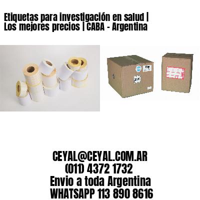 Etiquetas para investigación en salud | Los mejores precios | CABA - Argentina
