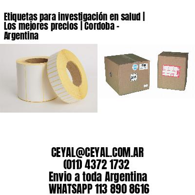 Etiquetas para investigación en salud | Los mejores precios | Cordoba - Argentina