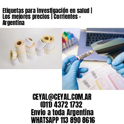 Etiquetas para investigación en salud | Los mejores precios | Corrientes - Argentina