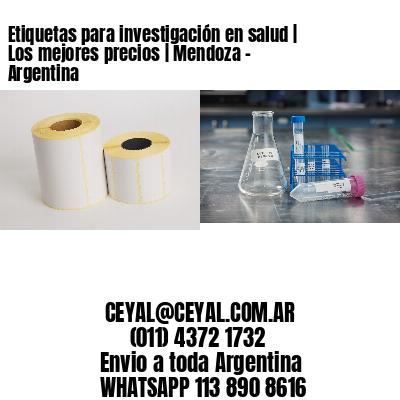 Etiquetas para investigación en salud | Los mejores precios | Mendoza - Argentina