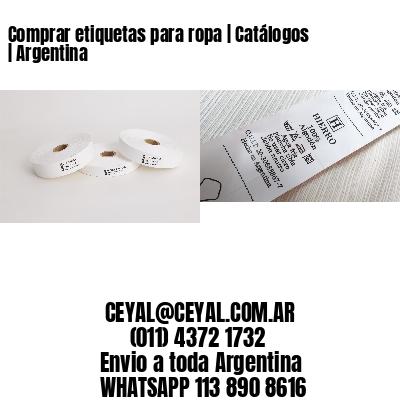 Comprar etiquetas para ropa | Catálogos | Argentina