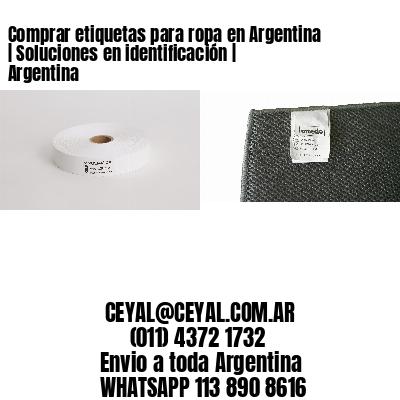Comprar etiquetas para ropa en Argentina | Soluciones en identificación | Argentina