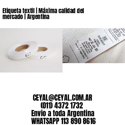 Etiqueta textil   Máxima calidad del mercado   Argentina