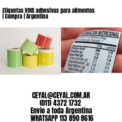 Etiquetas VOID adhesivas para alimentos | Compra | Argentina