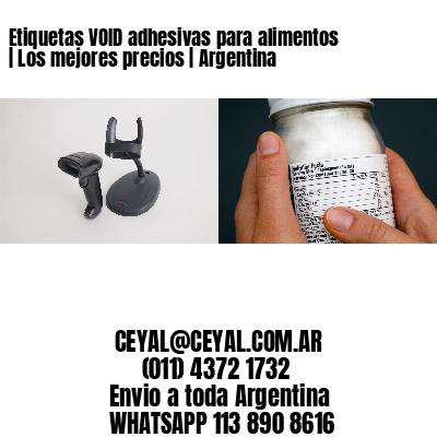 Etiquetas VOID adhesivas para alimentos   Los mejores precios   Argentina