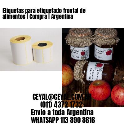 Etiquetas para etiquetado frontal de alimentos   Compra   Argentina