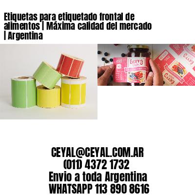 Etiquetas para etiquetado frontal de alimentos | Máxima calidad del mercado | Argentina