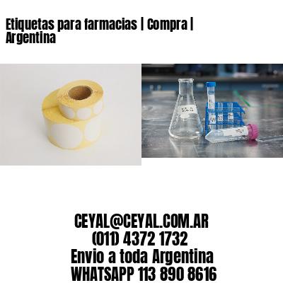 Etiquetas para farmacias | Compra | Argentina