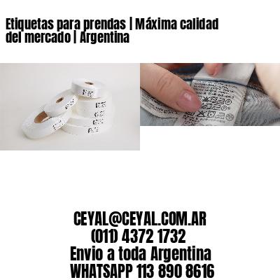 Etiquetas para prendas | Máxima calidad del mercado | Argentina