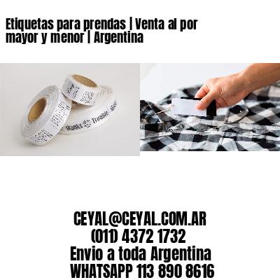 Etiquetas para prendas   Venta al por mayor y menor   Argentina