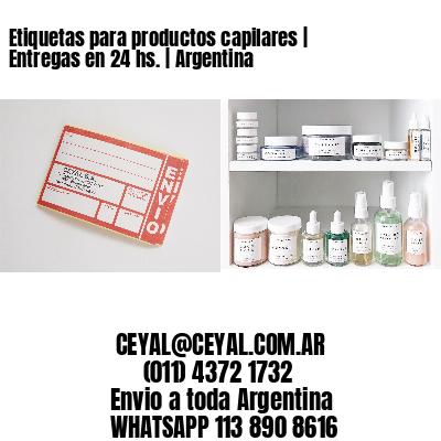 Etiquetas para productos capilares | Entregas en 24 hs. | Argentina