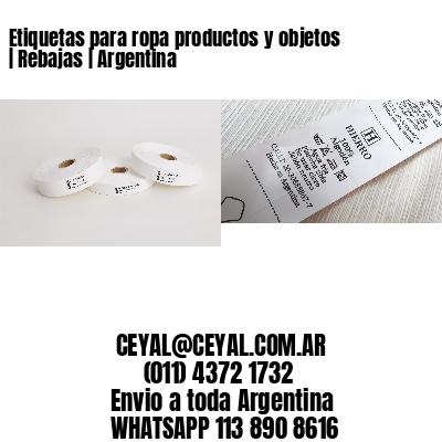 Etiquetas para ropa productos y objetos | Rebajas | Argentina