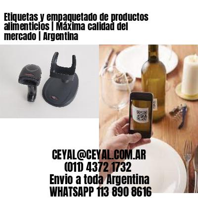 Etiquetas y empaquetado de productos alimenticios   Máxima calidad del mercado   Argentina
