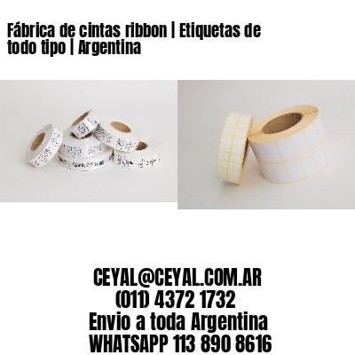 Fábrica de cintas ribbon | Etiquetas de todo tipo | Argentina