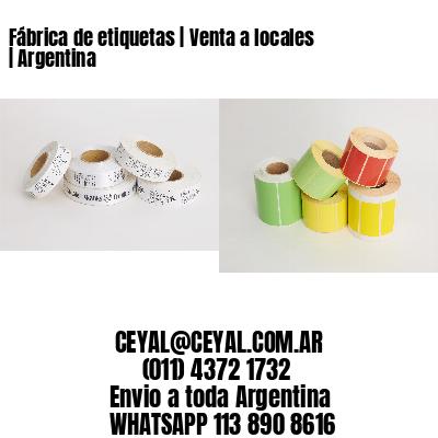 Fábrica de etiquetas   Venta a locales   Argentina