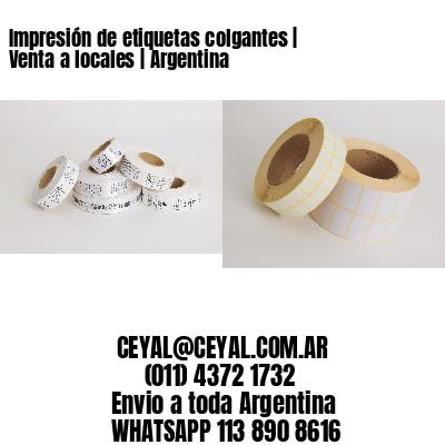 Impresión de etiquetas colgantes | Venta a locales | Argentina