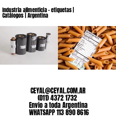 Industria alimenticia - etiquetas   Catálogos   Argentina