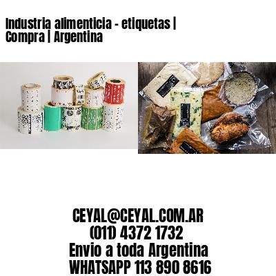 Industria alimenticia - etiquetas   Compra   Argentina