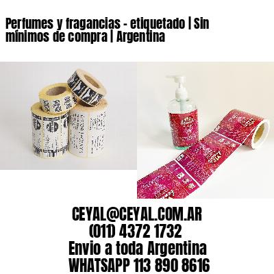 Perfumes y fragancias - etiquetado   Sin mínimos de compra   Argentina